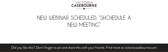 "New Webinar Scheduled: ""shchedule a new meeting"""