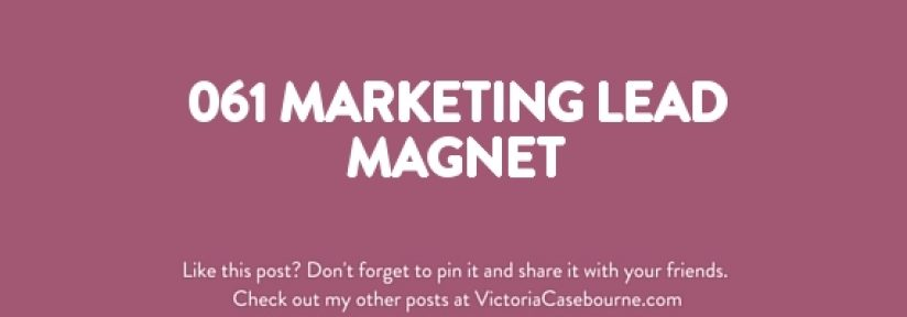 061 Marketing Lead Magnet