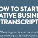 How to start a creative business – Transcript