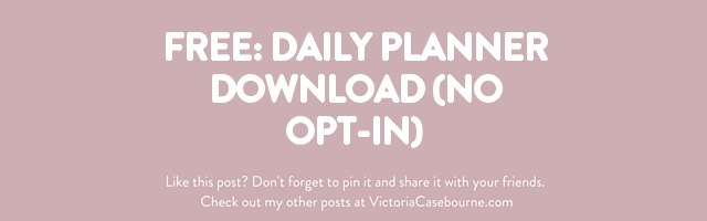 FREE: Daily Planner Download (No Opt-In)